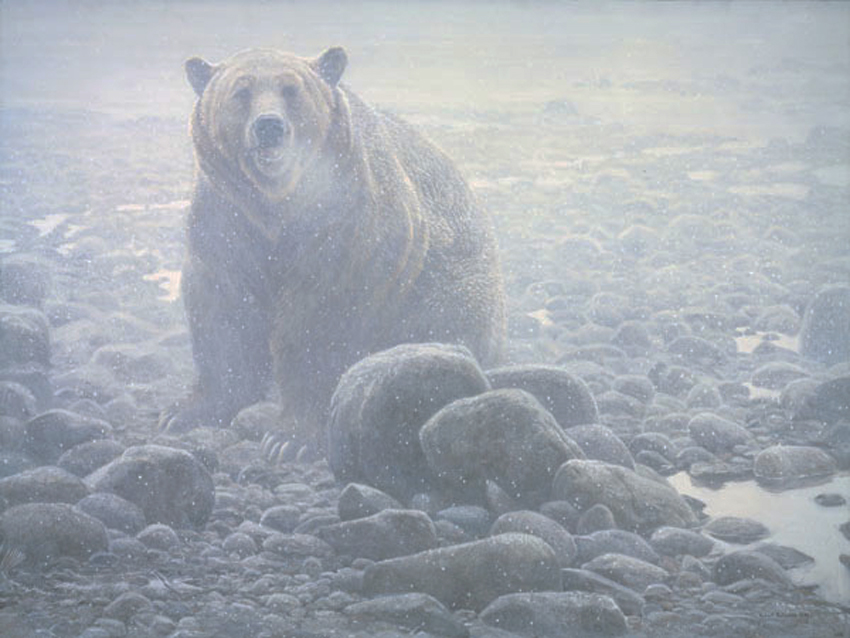 Robert Bateman End Of Season Grizzly Bear