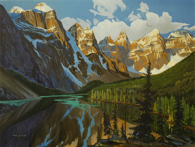Paul Gauthier Afternoon Shadows Moraine lake