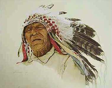 James bama A Crow Indian