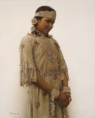 James Bama Litle Fawn Cree Indian Girl
