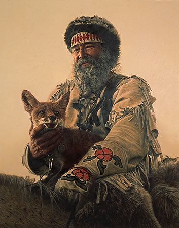 James Bama Mountain Man and His Fox