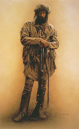 James Bama Mountain man With Rifle