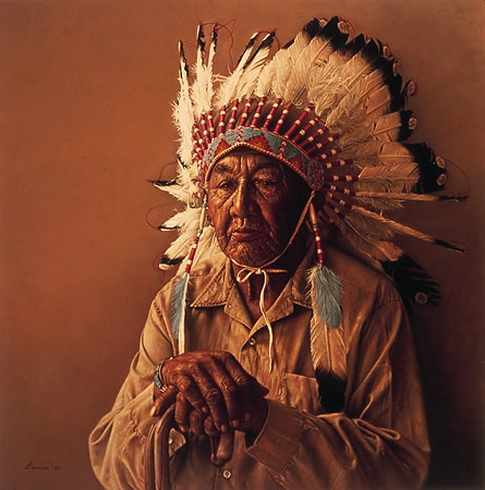 James Bama Old Arapaho Story-Teller