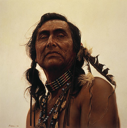 James bama Portrait Of A Sioux