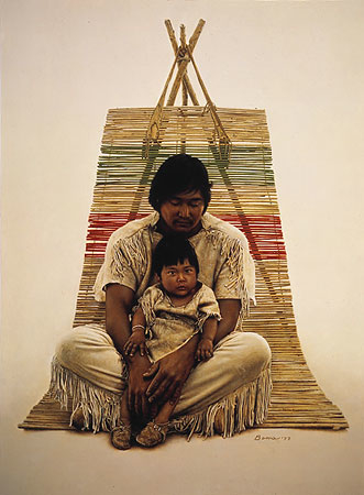 James Bama Southwest indian Father and Son
