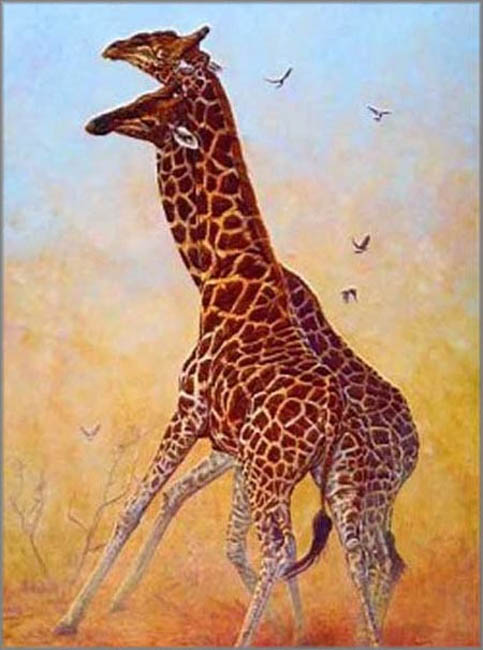 John Banovich Clash Of The Titans Giraffes