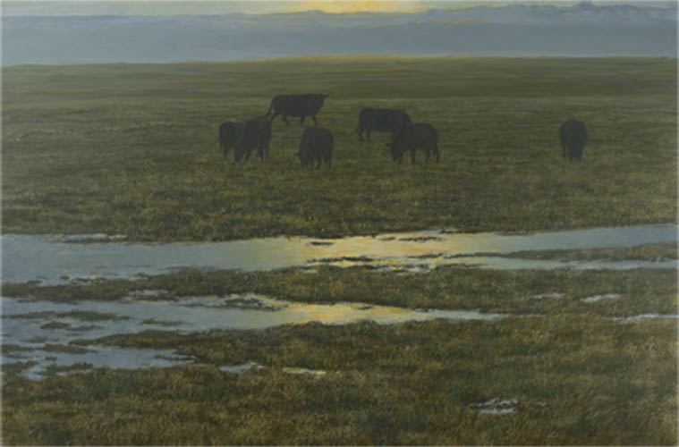 Robert Bateman Angus Sunset