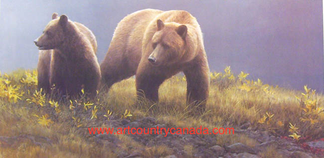 Robert Bateman Alaska Light Grizzly Bear