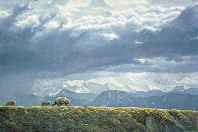 Robert Bateman Along The Ridge Grizzly Bears