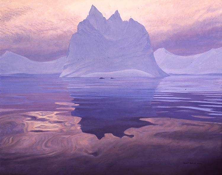 Robert Bateman Antarctic Evening Humpback Whales