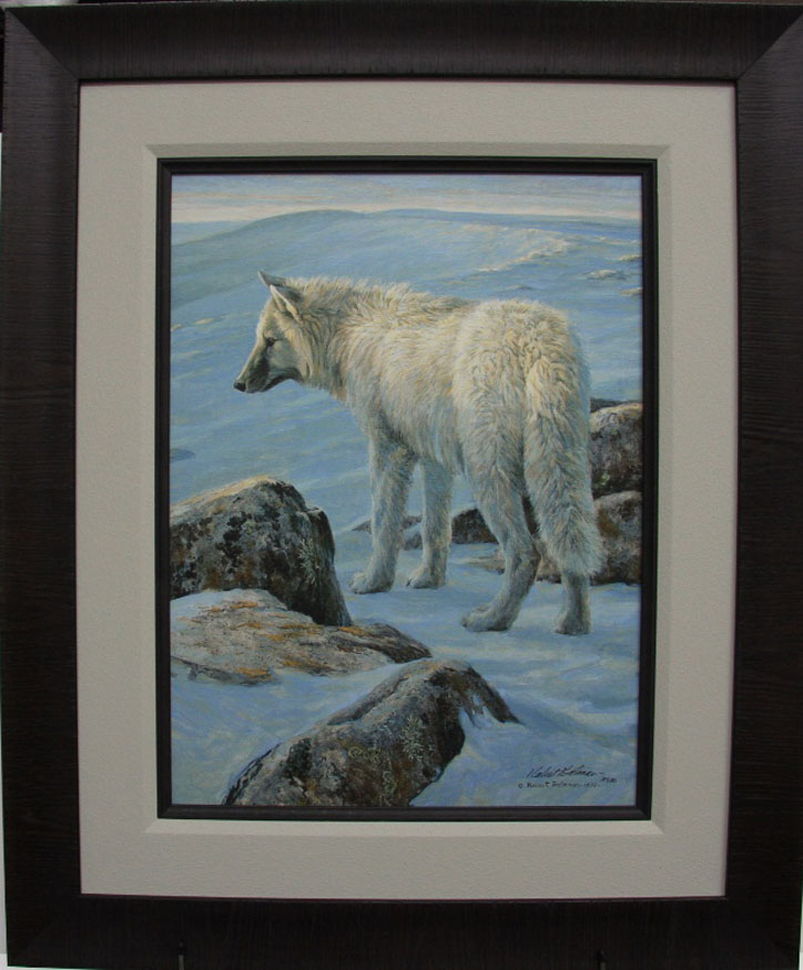 Robert Bateman Arctic Evening White Wolf