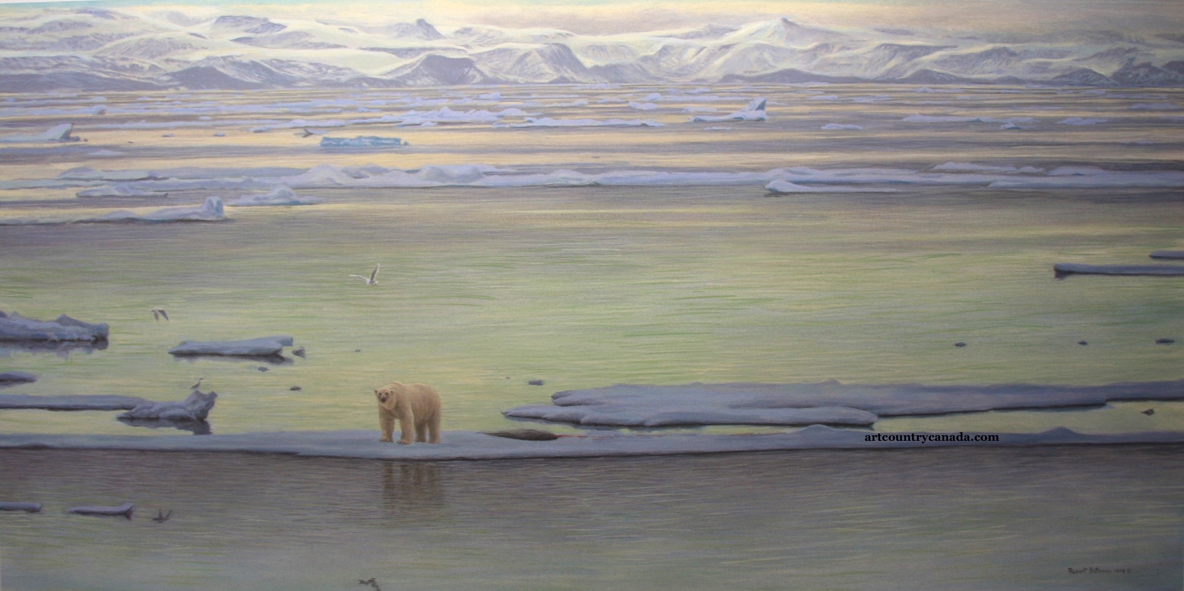 Robert Bateman Arctic Ice Polar Bear