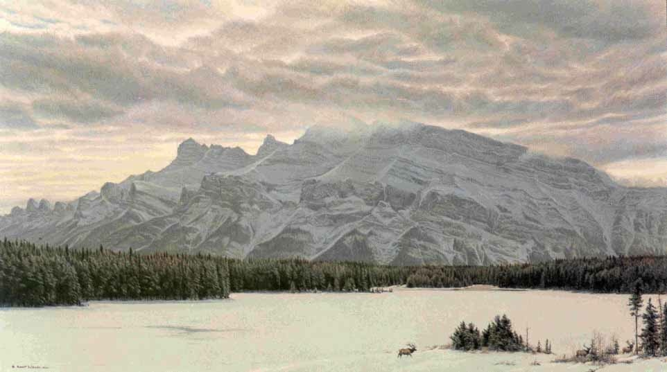 Robert Bateman Awesome land Elk