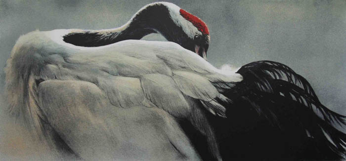 Robert Bateman Ceremonial Pose Red-Crowned Crane