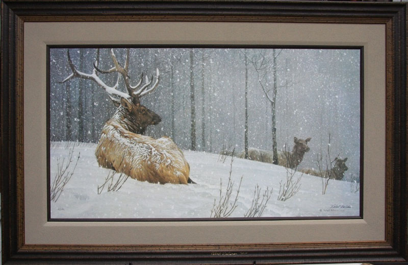 Robert bateman Evening Snowfall American Elk