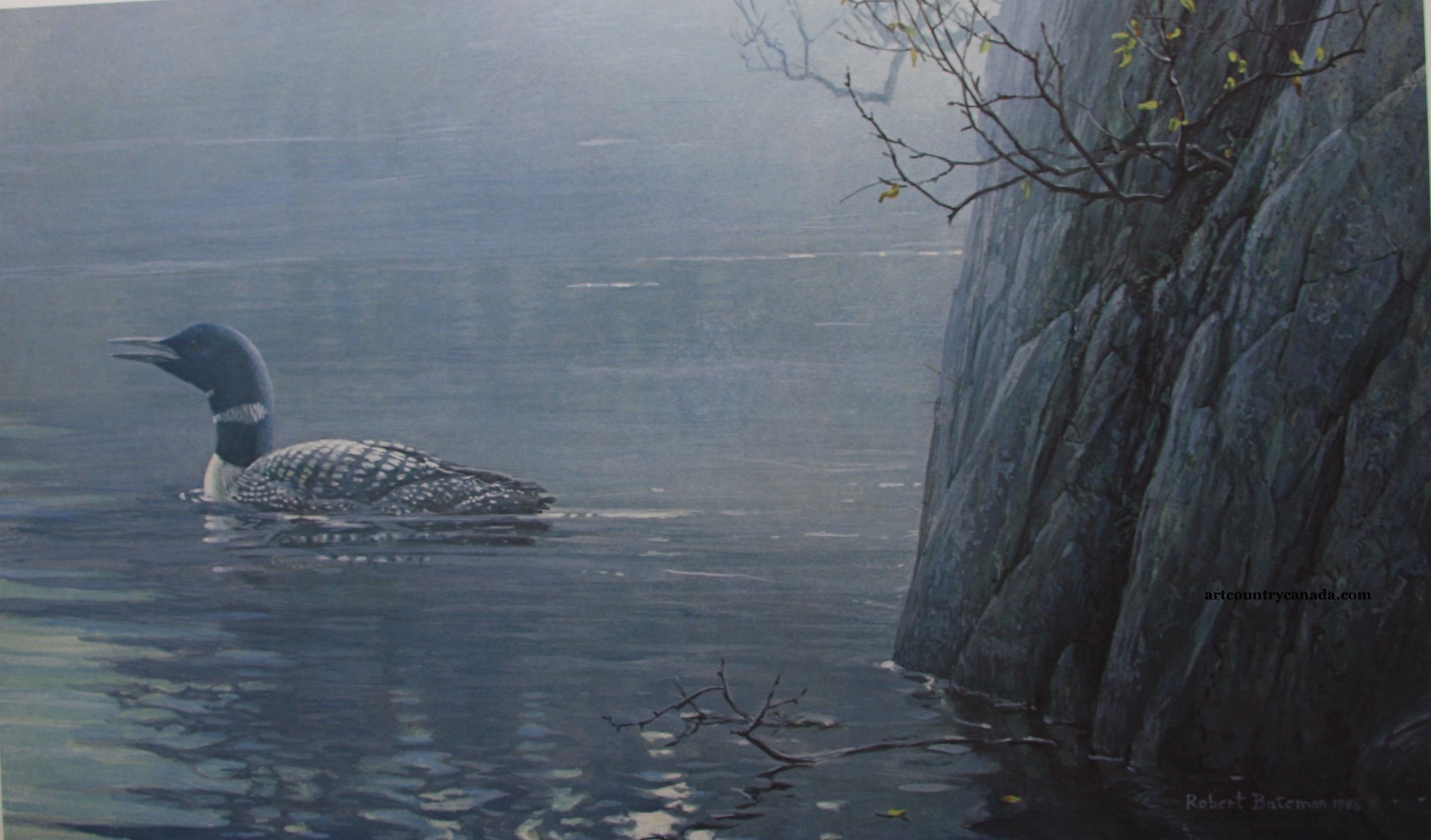 Robert Bateman Evening Call Common Loon