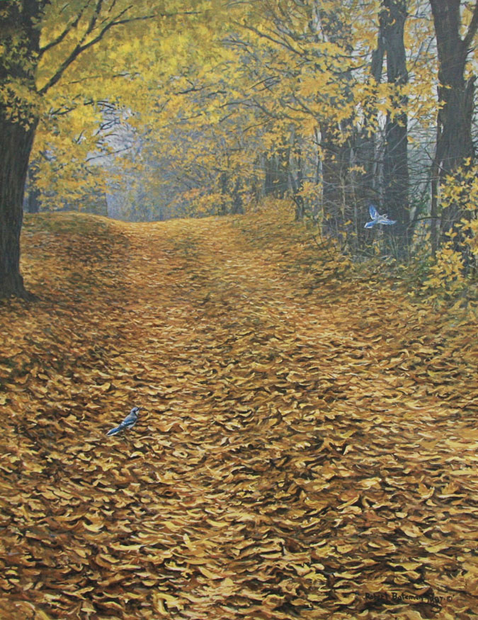 Robert Bateman Farm Lane and Blue Jays