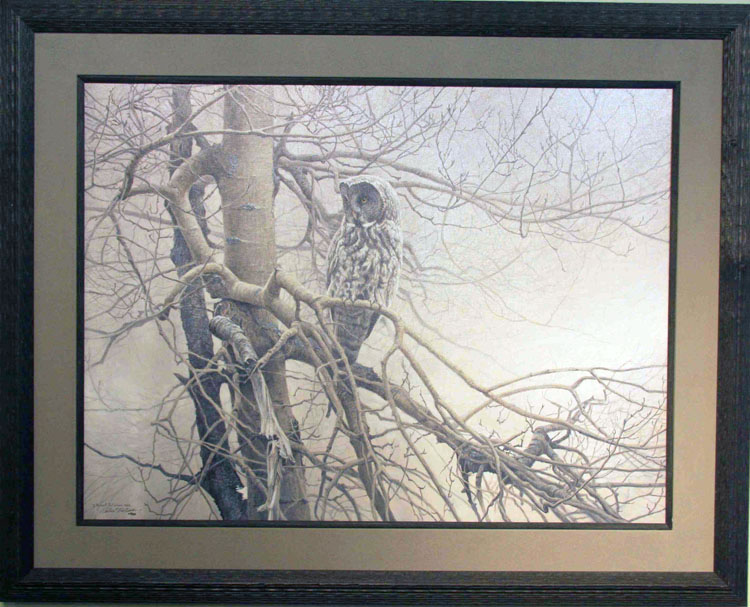 Robert Bateman Ghost Of The North Great Grey Owl