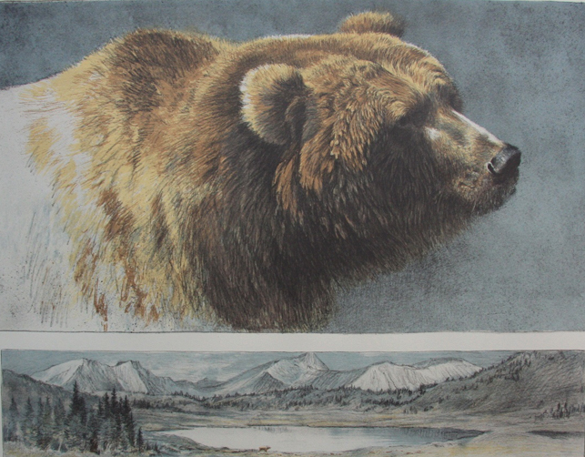 Robert Bateman Keeper Of The Land Grizzly Bear