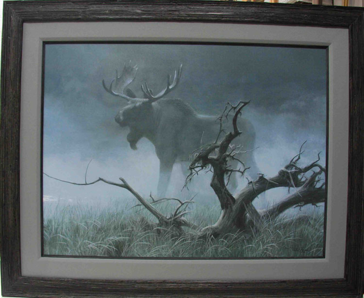 Robert Bateman Moose In Moonlight