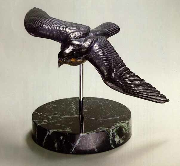 Robert Bateman Peregrine in Flight Bronze