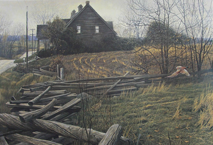Robert Bateman Pheasants at Dusk