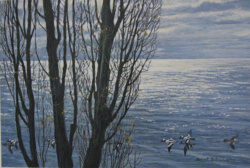 Robert Bateman Poplar Trees and Buffleheads