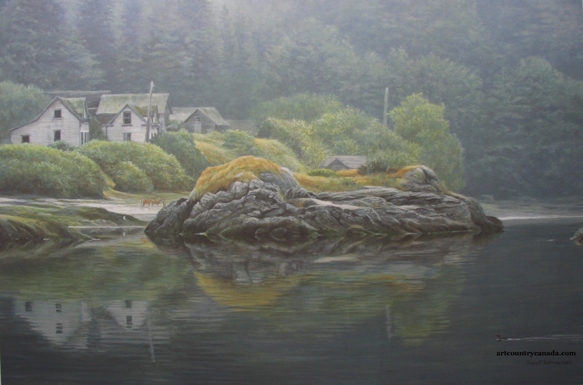 Robert bateman Potlatch Village