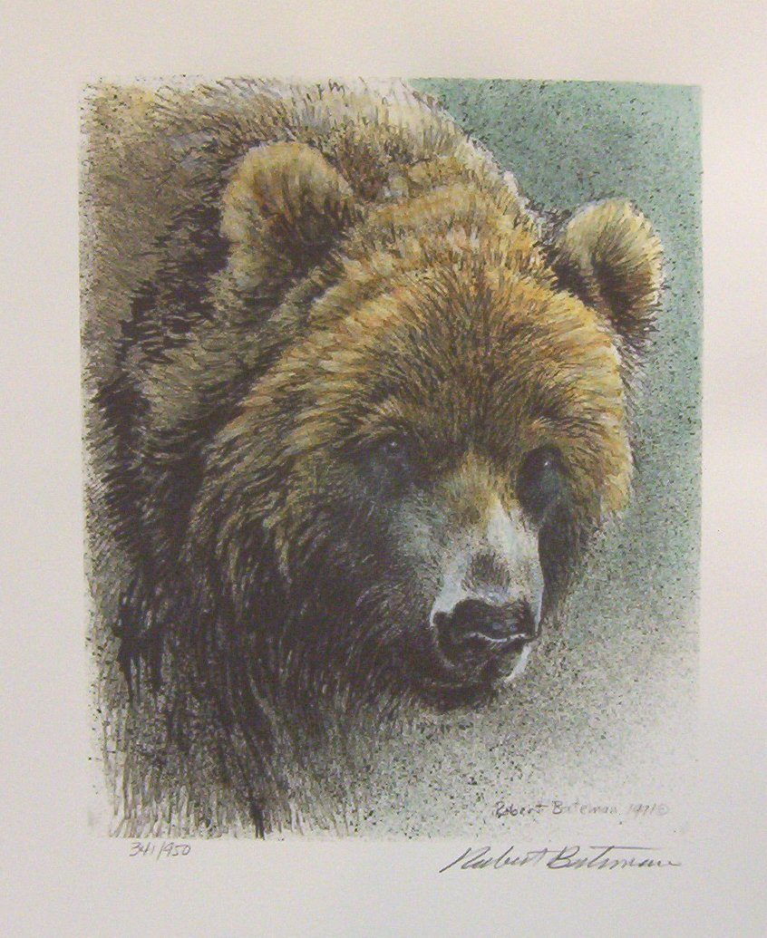 Robert Bateman Grizzly  Bear