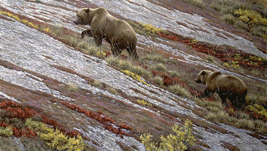 Robert Bateman Alaskan Autumn Grizzly Bears