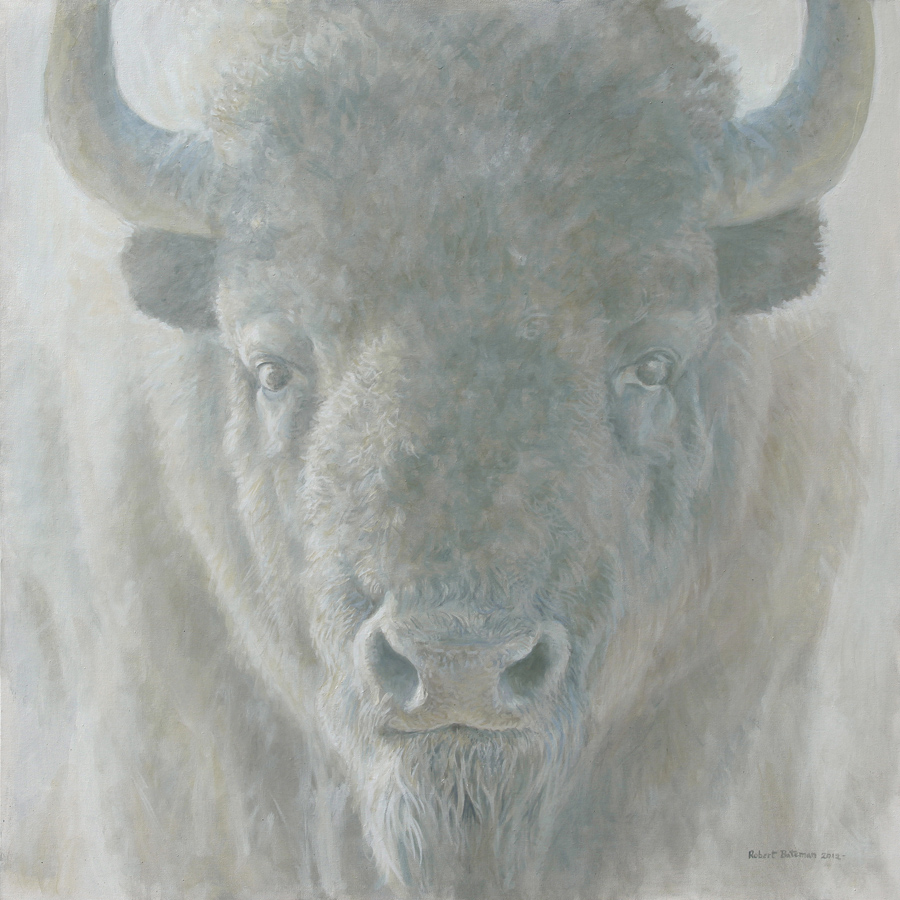 Robert Bateman Bison Face Original Painting