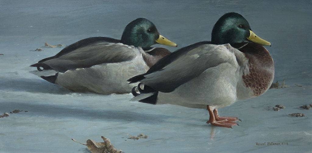 Robert Bateman Mallards on Ice