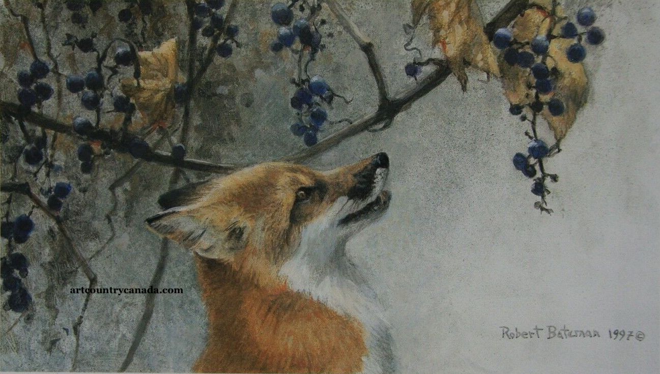 Robert Bateman Fox and Grapes