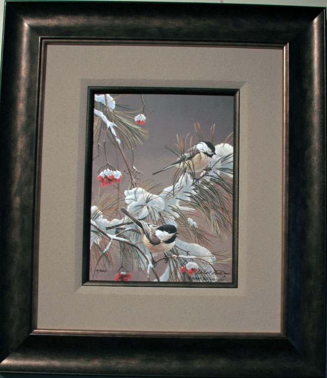 Robert Bateman Winter Song Giclee Clasart Framed
