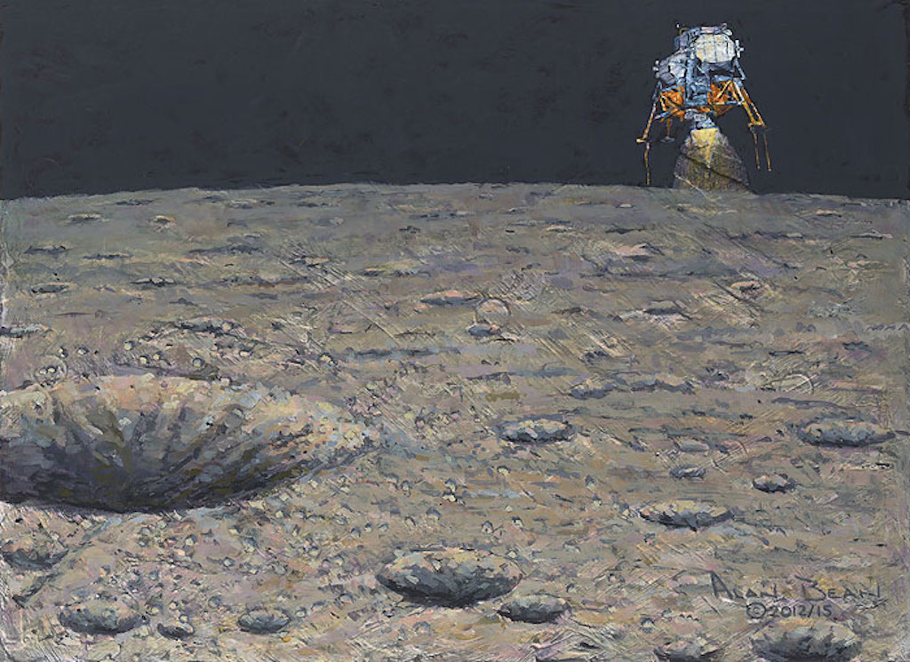Alan Bean Armstrong Heads Beyond the Boulders