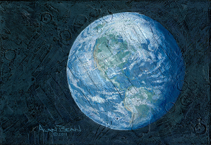 Alan Bean this beautiful Planet is revolving around the three of us