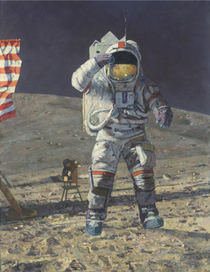 Alan Bean John Young Leaps into History