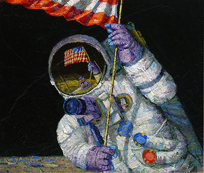 Alan Bean Red White and Blue