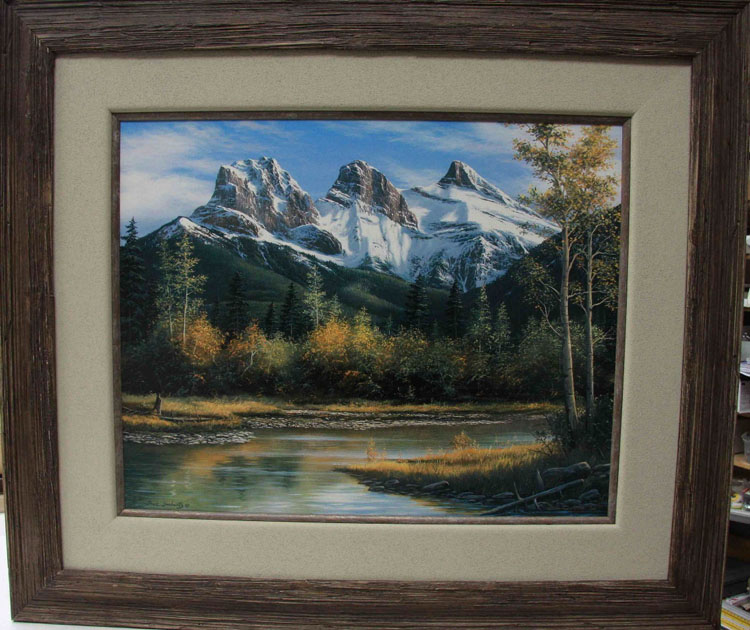 Fred Buchwitz Three Sisters framed
