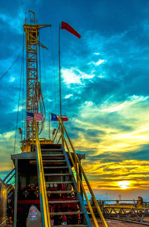 bob callender texas skies oil rig