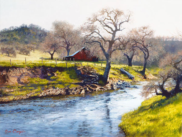 June Carey Early Spring At Stony Creek