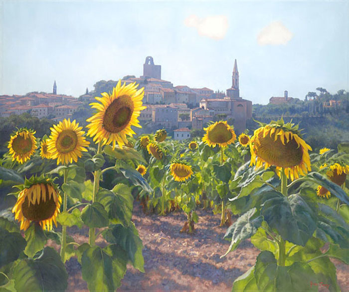 June Caren Sunflowers
