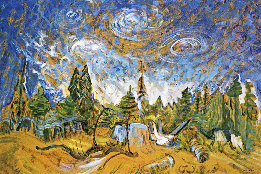 Emily Carr Stumps and Sky 1934