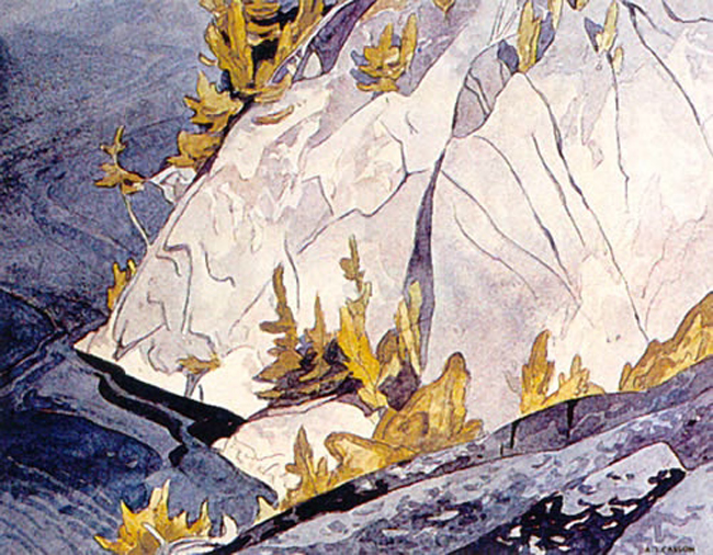 A. J. Casson Cliffs Lake Mazinaw
