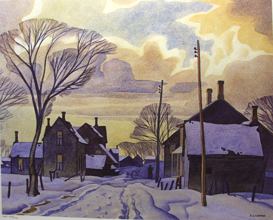 A.J. Casson Winter In The Village