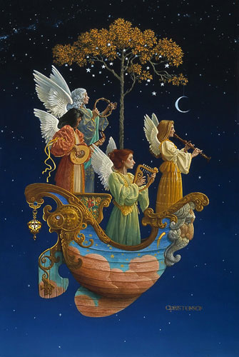 James Christensen Evening Angels