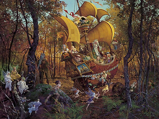 James Christensen Flight Of The Fablemaker