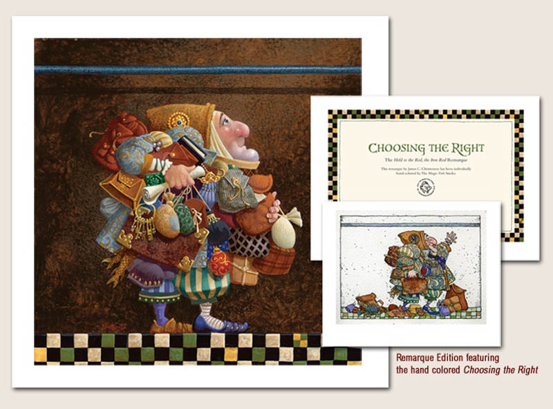 James Christensen Hold To The Rod , The Iron Rod Limited edition print and remarque