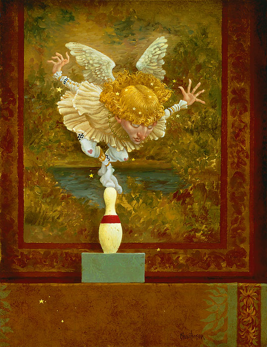 James Christensen How many Angels can dance on a head of a pin