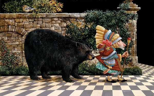 James Christensen Lawrence had Pretended Not To Notice That a Bear